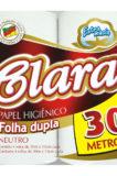 PAPEL HIGIÊNICO CLARA FOLHA DUPLA 4X30