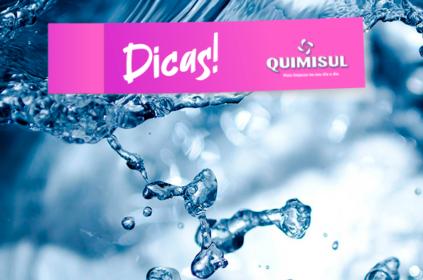 Economize água na hora de limpar