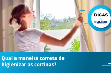 Qual a maneira correta de higienizar as cortinas?