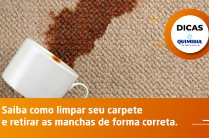 Saiba como limpar seu carpete e retirar as manchas de forma correta