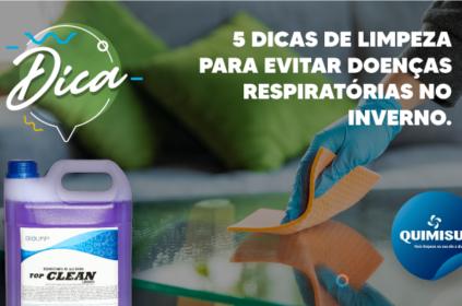 5 dicas de limpeza para evitar doenças respiratórias no inverno