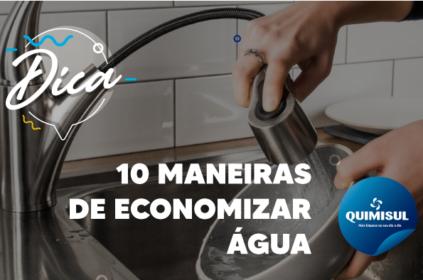 10 maneiras de economizar água